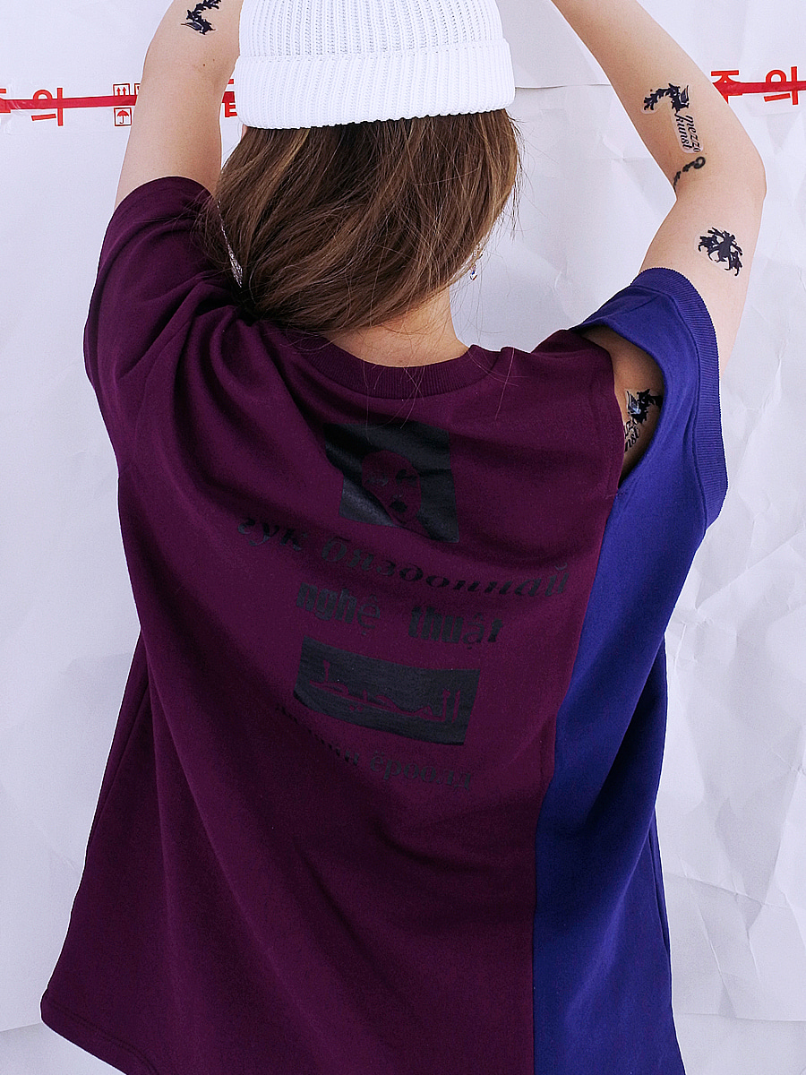 [17S/S] SYMBOL CUT T-SHIRT - PURPLE