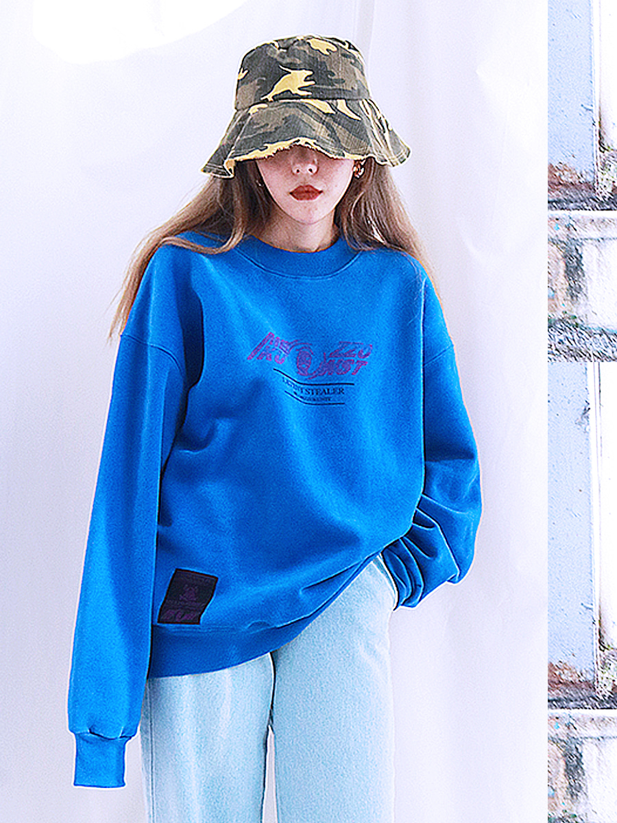 LOGO SWEAT SHIRT - BLUE