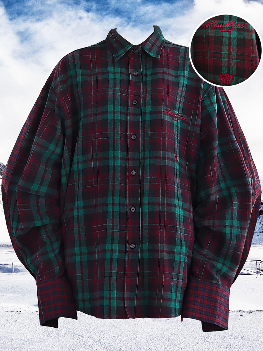 ORIGINAL CHECK SHIRT - BURGUNDY