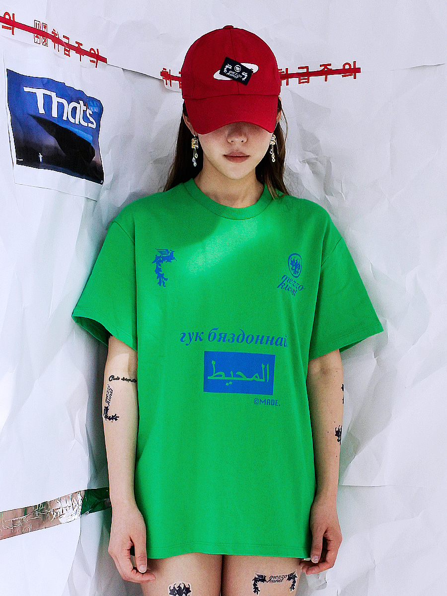 [50%OFF] OCEAN LOGO T-SHIRT - GREEN