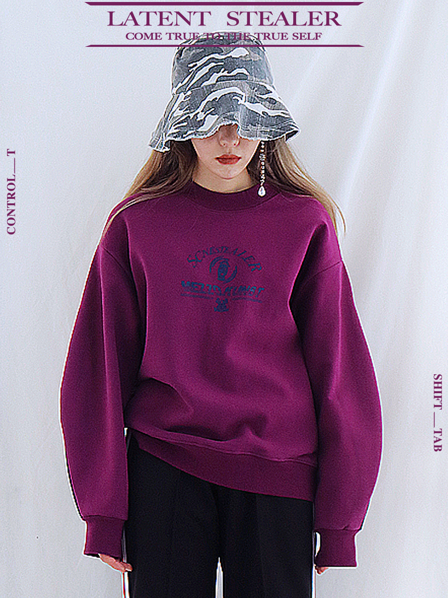 [17F/W] STEALER SWEAT SHIRT - PURPLE