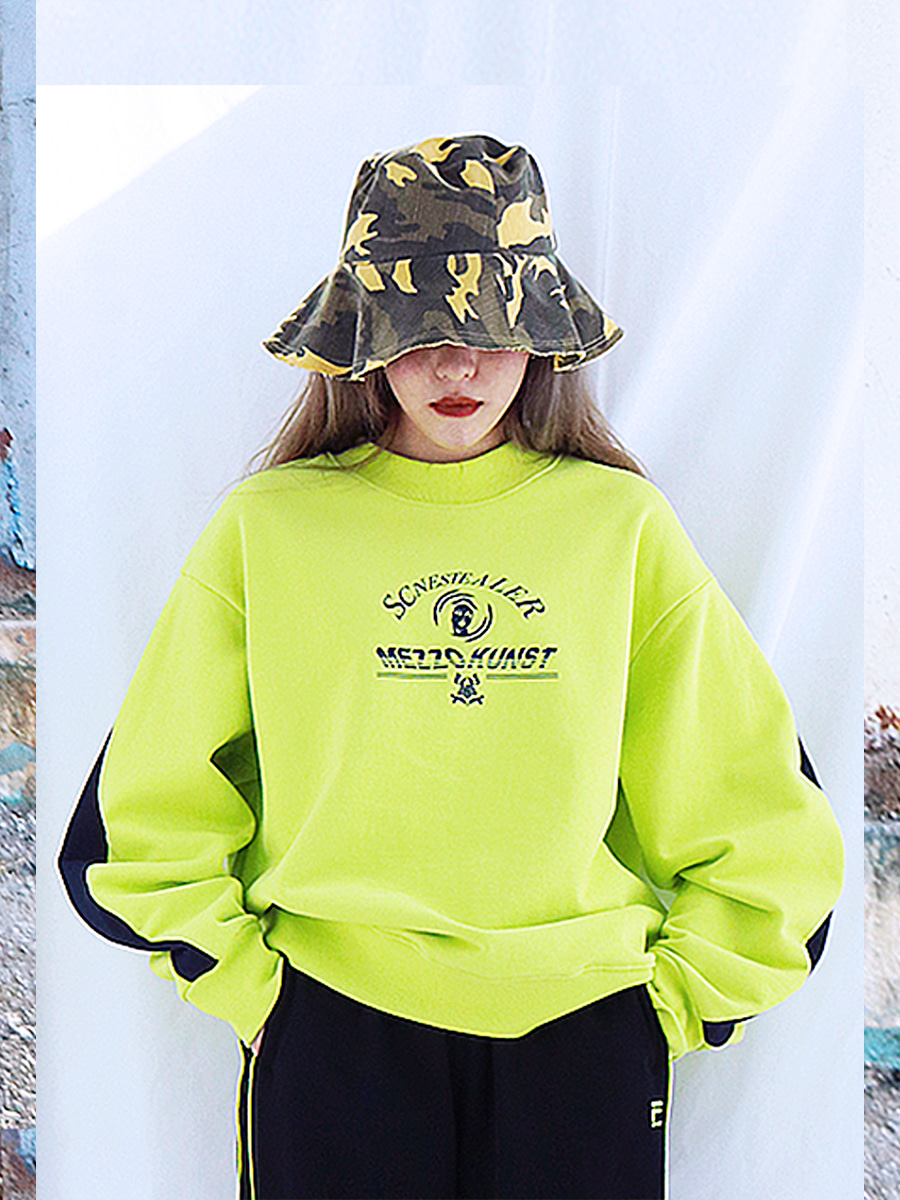 [40%OFF] STEALER SWEAT SHIRT - YELLOWGREEN
