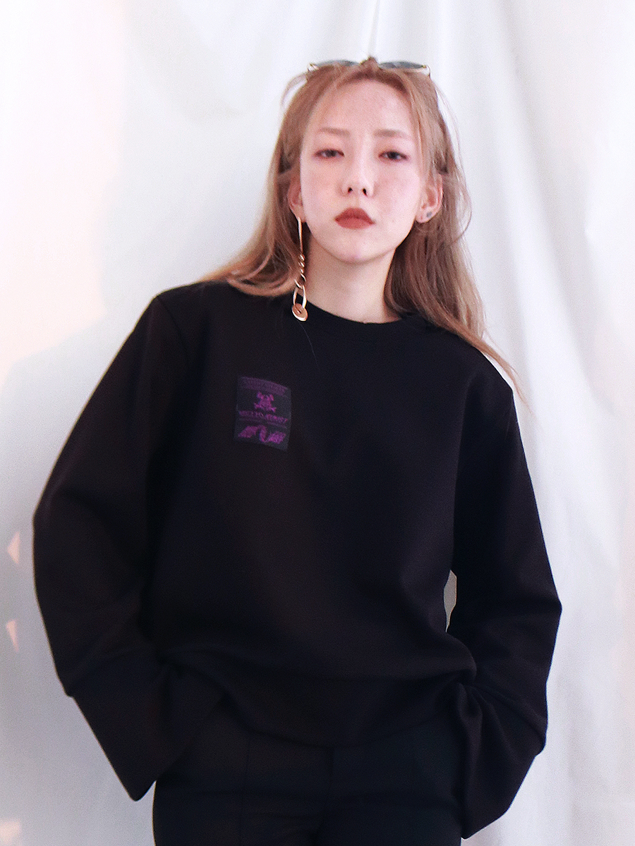 [40%OFF] SYMBOL SWEAT SHIRT - BLACK