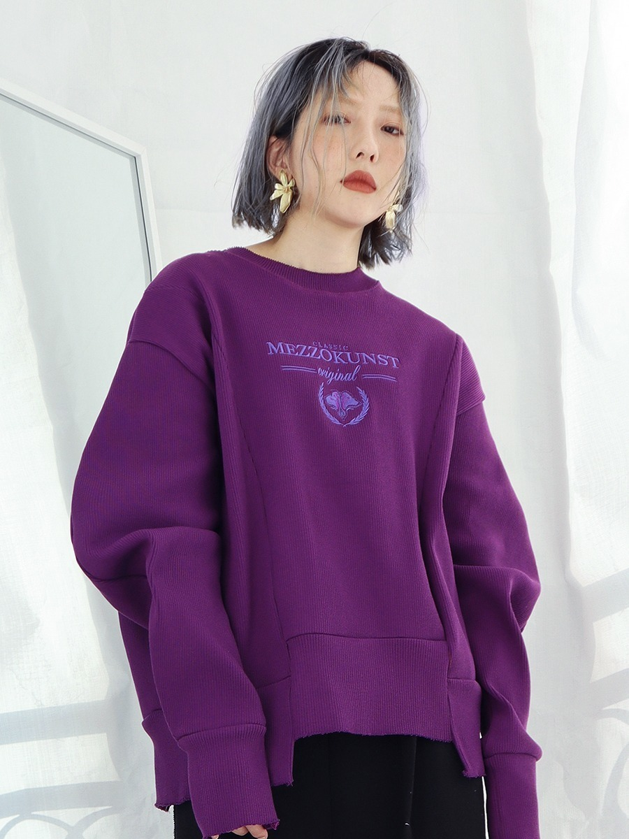 [40%OFF] BLOOMING SWEAT SHIRT - PURPLE