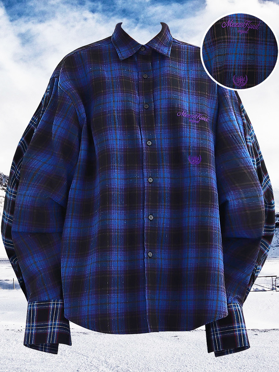 [30%OFF] UNISEX ORIGINAL CHECK SHIRT - BLUE