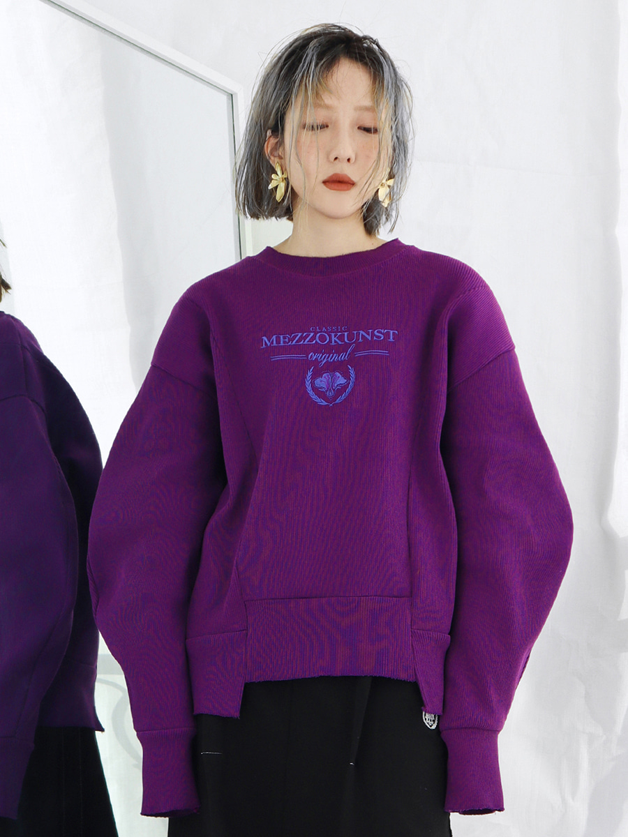 [30%OFF] BLOOMING SWEAT SHIRT - PURPLE