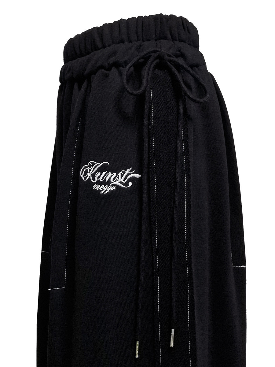 stitch skirt black [재입고!]