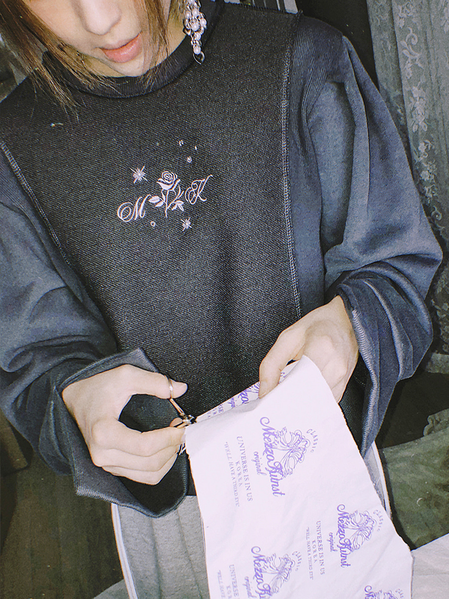 rose sweat shirt charcoal