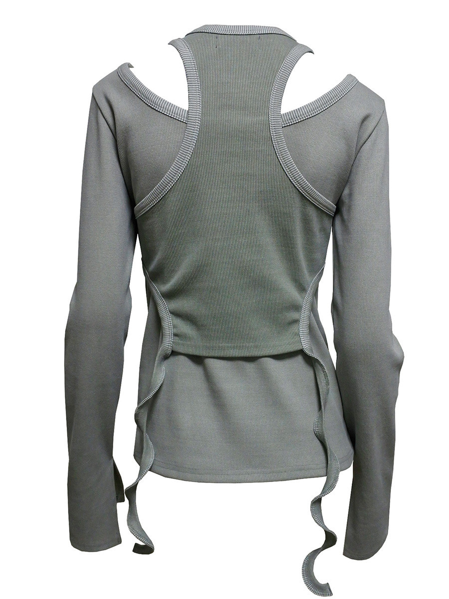 pigment layer t-shirt gray
