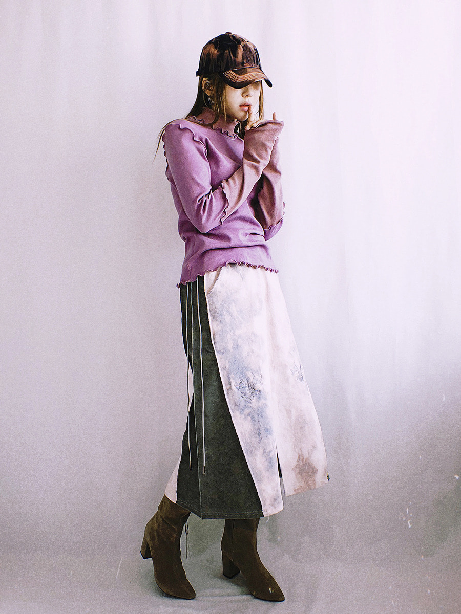 bleach skirt - pink