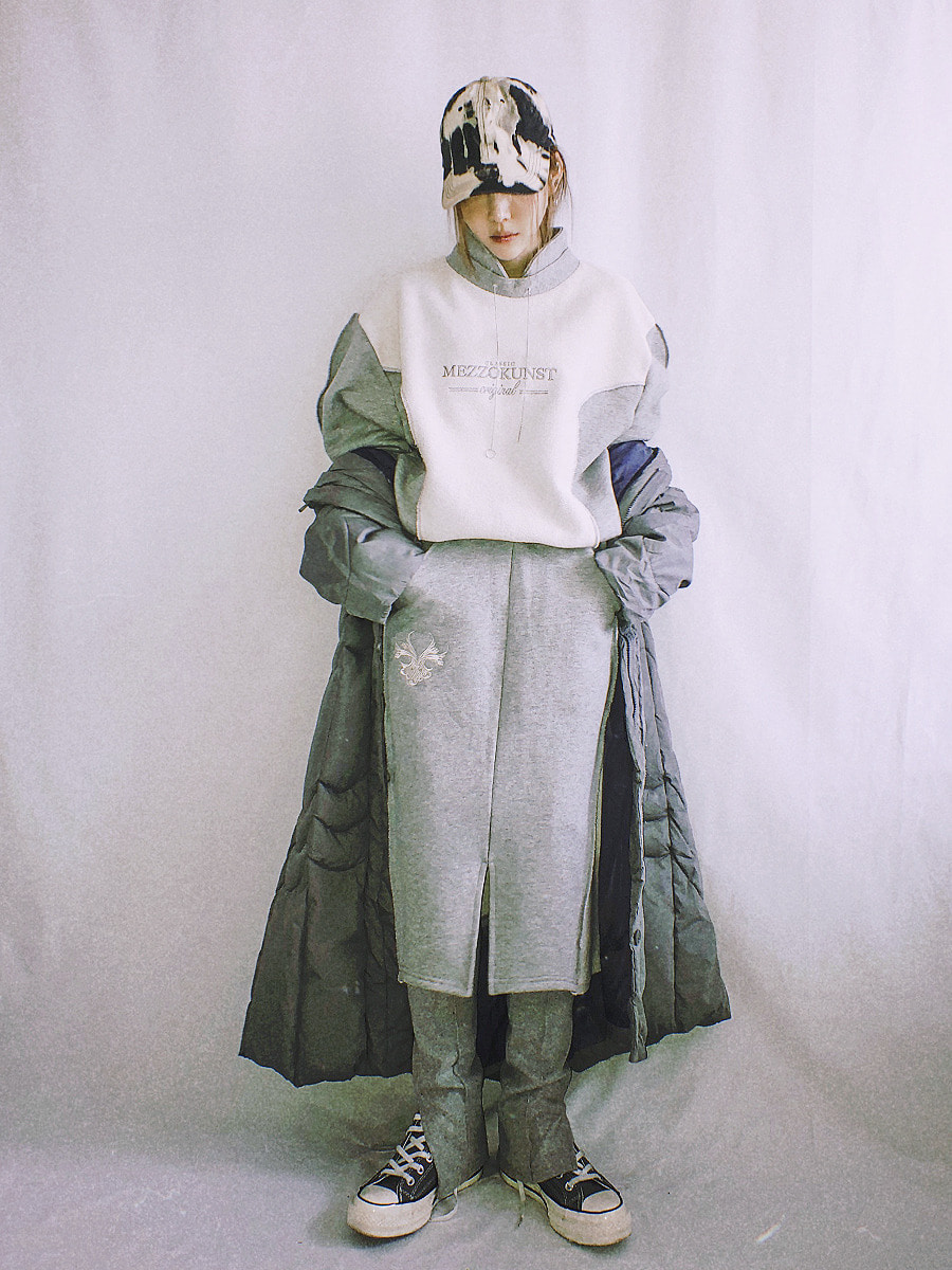 reverse sweat shirt - gray